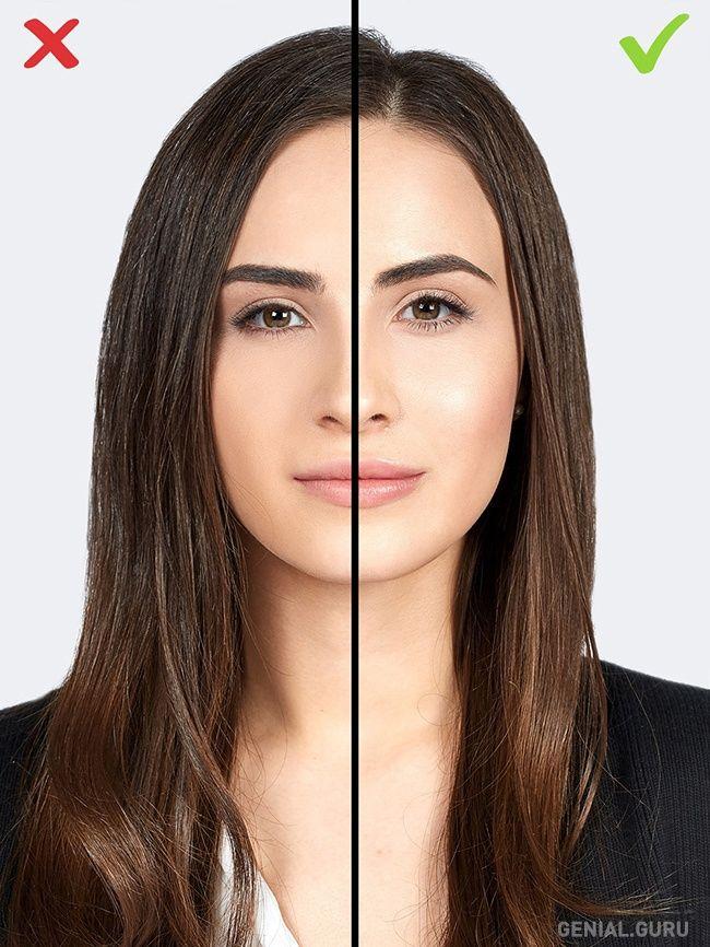 10 Errores de maquillaje que te agregan años. 10-Una capa gruesa de polvo compacto. El polvo compacto puede ocultar algunos defectos, pero solo cuando se aplica en poca cantidad. Si te sobreesfuerzas y aplicas demasiado polvo, se convertirá en un problema. Aplica polvo mineral o de arroz para deshacerte del brillo de piel grasa en la zona T. Evita aplicar polvo en el área de los ojos: el polvo compacto no ocultará sino destacará aún más tus arrugas, y tu piel parecerá más seca.