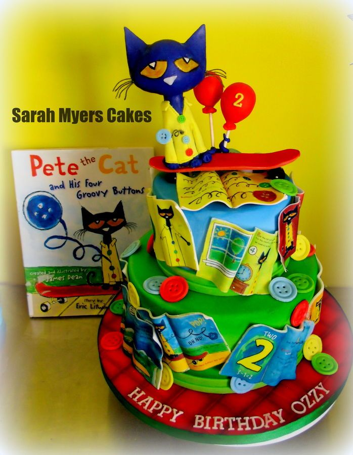 Pete the Cat Birthday Cake | Pete The Cat & his groovy Buttons