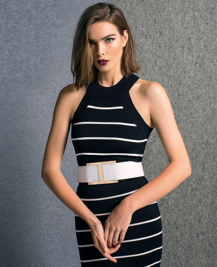 Stripe Midi Crop Top - Bardot