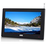 "August DA100D - 10"" Portable TV with Freeview - Add a Small Screen Digital LCD Television to Your Car, Kitchen or Bedside Table - AA, Mains or 12V Charger (Not Included) Powered - [ENERGY CLASS A]"