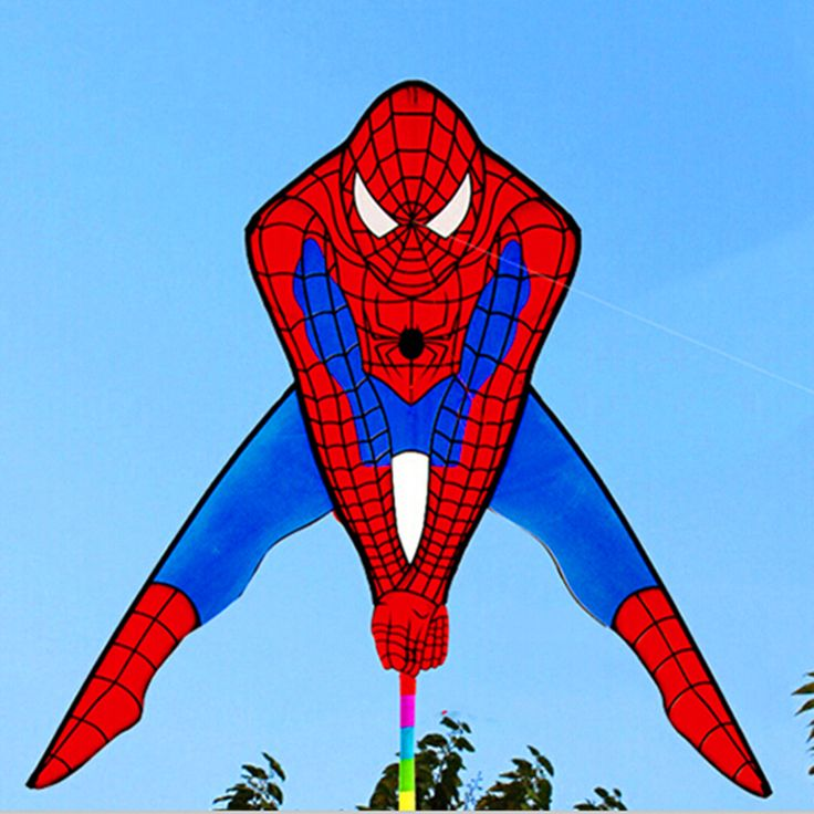 free shipping high quality spiderman kite with handle line outdoor flying toys kites for sale power kite nylon flying dragon