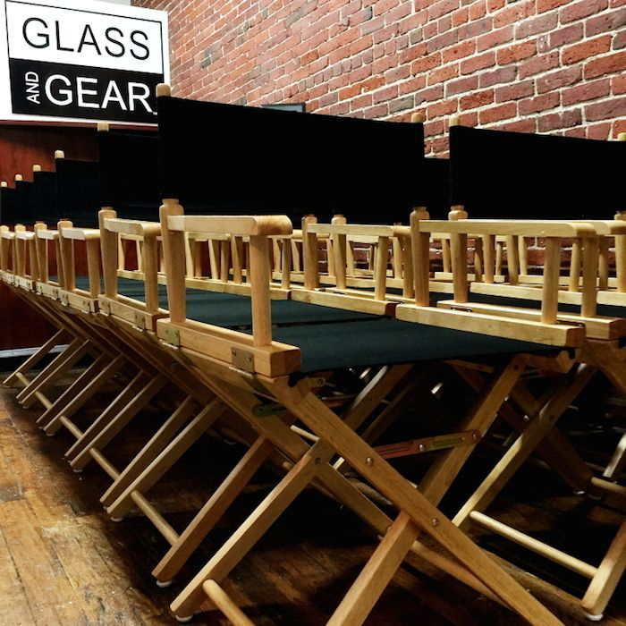 Directors Chair rentals for your next film. Low back Directors Chairs from Glass And Gear. #Directorschair #indiefilm