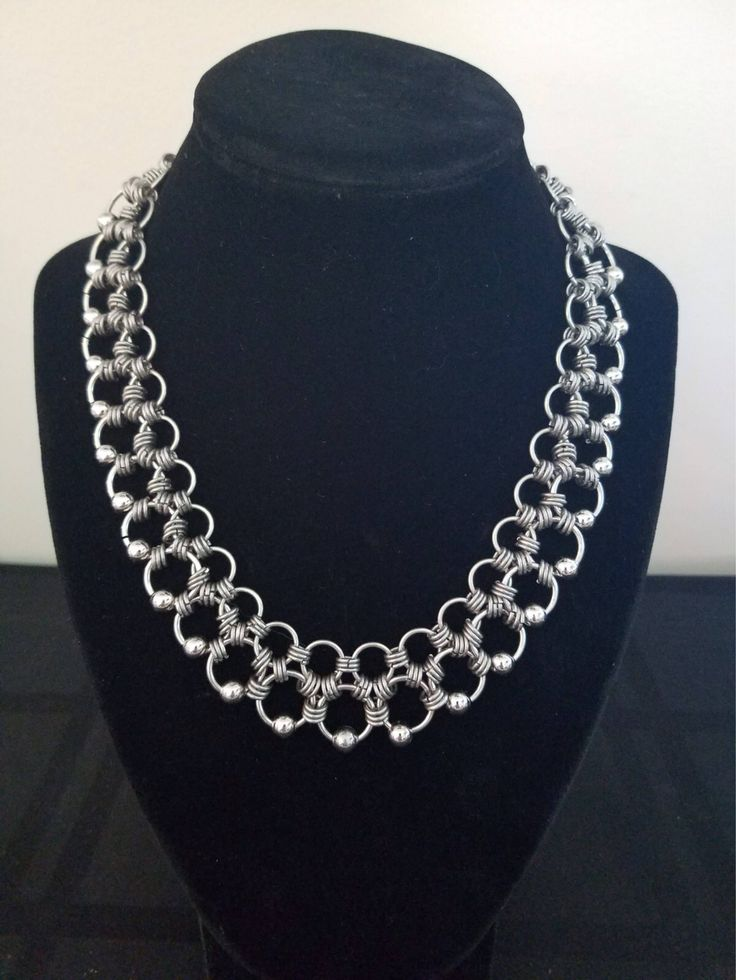 A personal favorite from my Etsy shop https://www.etsy.com/listing/541413313/chainmaille-stainless-steel-necklace