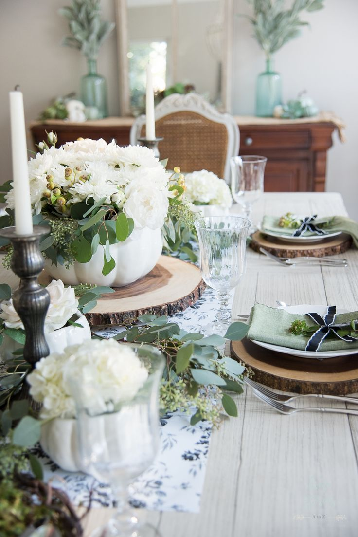 Elegant Black White And Green Farmhouse Table Setting For Fall Home Stories A To Z Farmhouse Table Setting Farmhouse Table Elegant Home Decor,Good Plants For Office Spaces