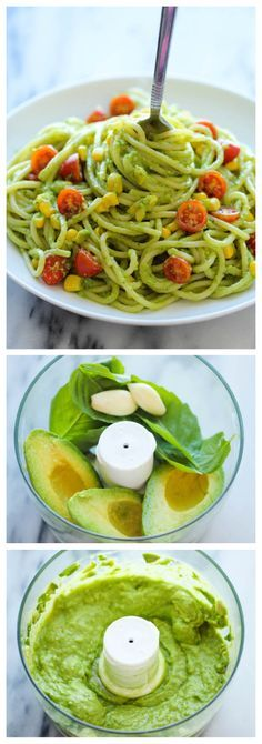 Avocado Pasta - the easiest, most unbelievably creamy avocado pasta. (Use Speghetti squash)