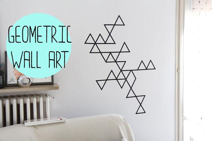 DIY:Geometric wall art with washi tape - decorazione da muro con washi t...