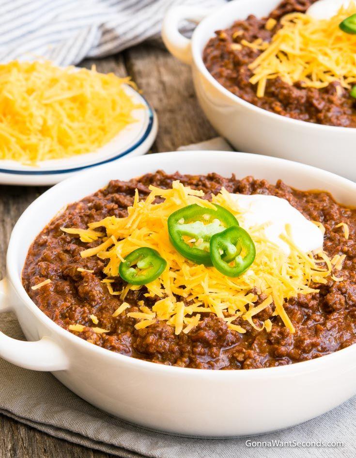 Texas Chili Recipe With Video Recipe Texas Chili Texas Chili Recipe Chili Recipes