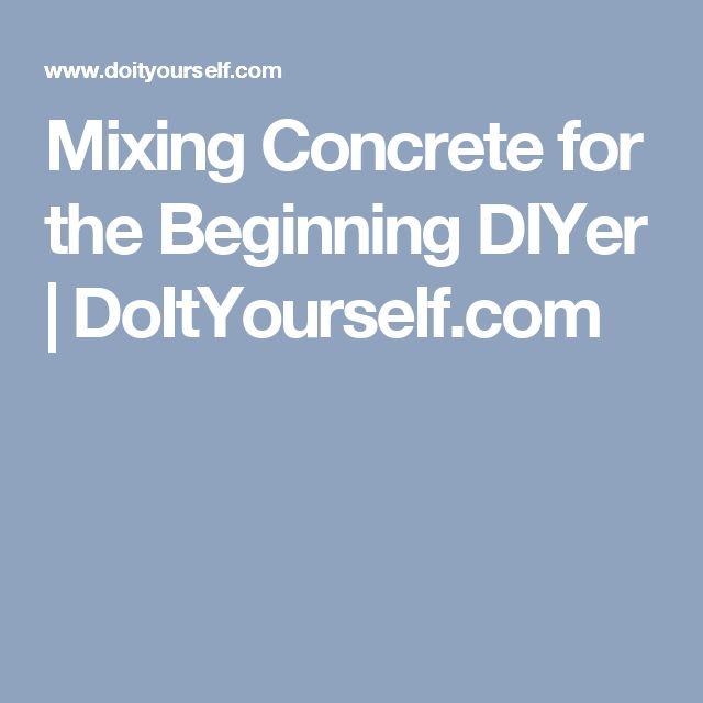 Mixing Concrete for the Beginning DIYer | DoItYourself.com