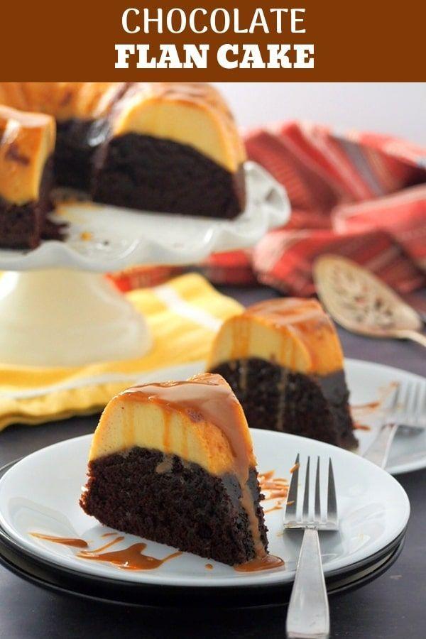 Unmöglicher Schokoladen Flan Kuchen