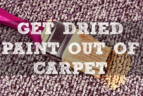Here's how to get dried paint out of carpet with before/after shots. This paint was SIX years old at the time! Paint's not the only old stain I got out.