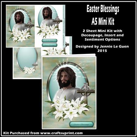 Easter Blesisngs A5 Mini Kit on Craftsuprint - View Now!