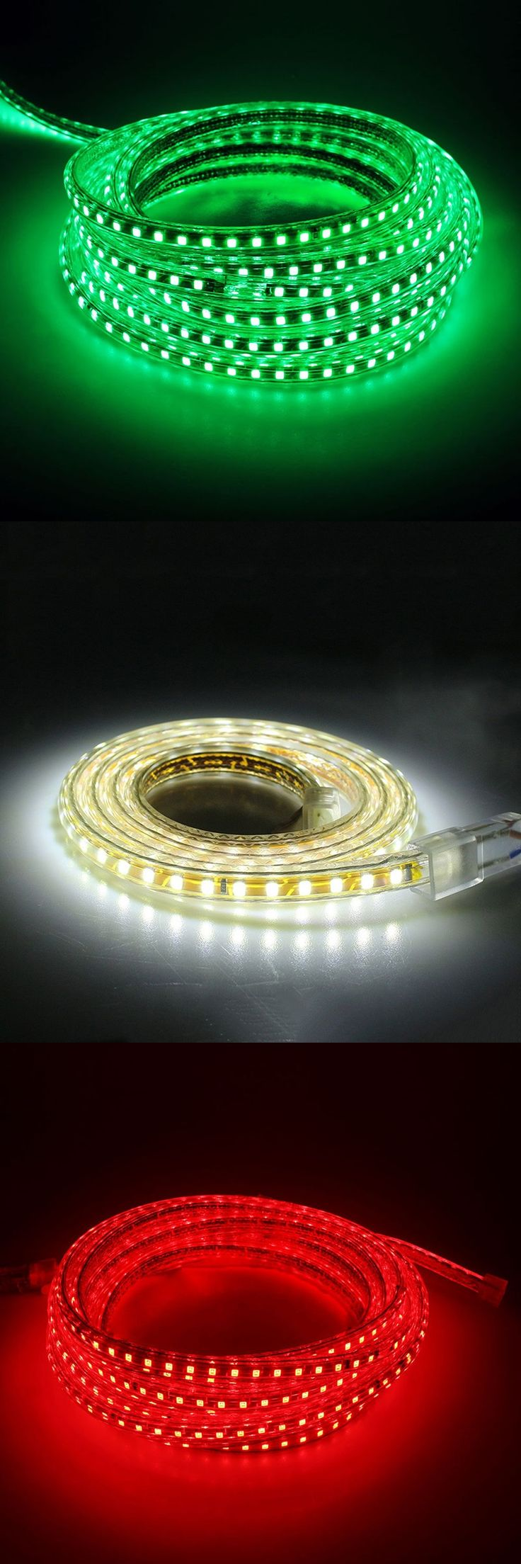 Outdoor Waterproof LED Strip 5050 AC220V Flexible LED Light  60 pcs of beads per meter warm white cold white LED Strips