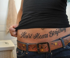 Heart Means Everything Tattoo. Awful placement though