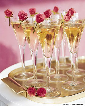 Add an elegant detail to your champagne toast with garnishes of tiny
