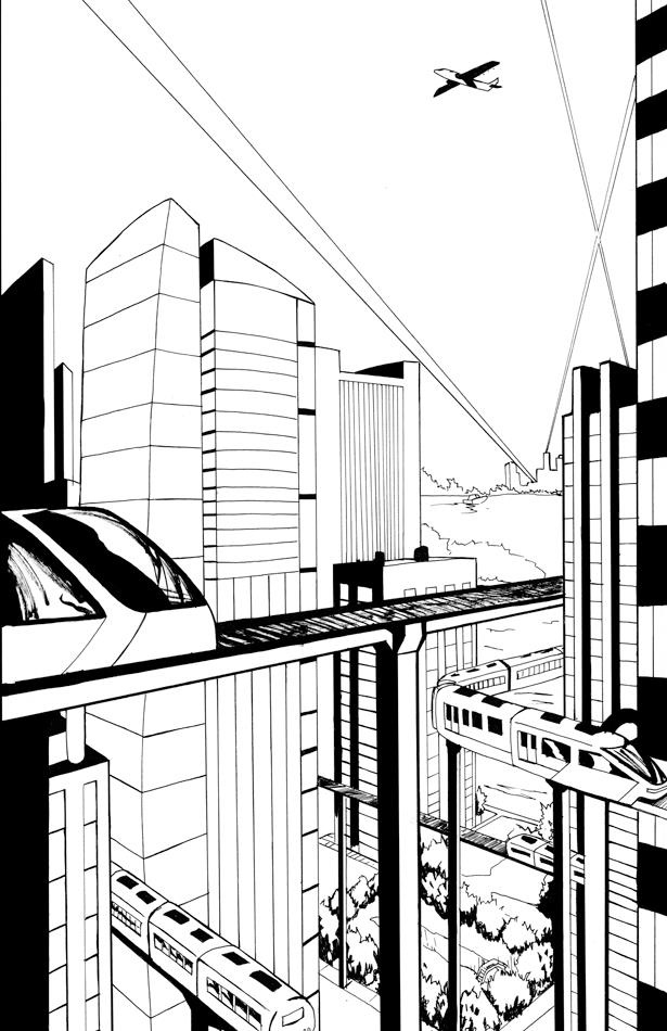 EMPIRE CITY SKYLINE concept, by Mario Williams. Property