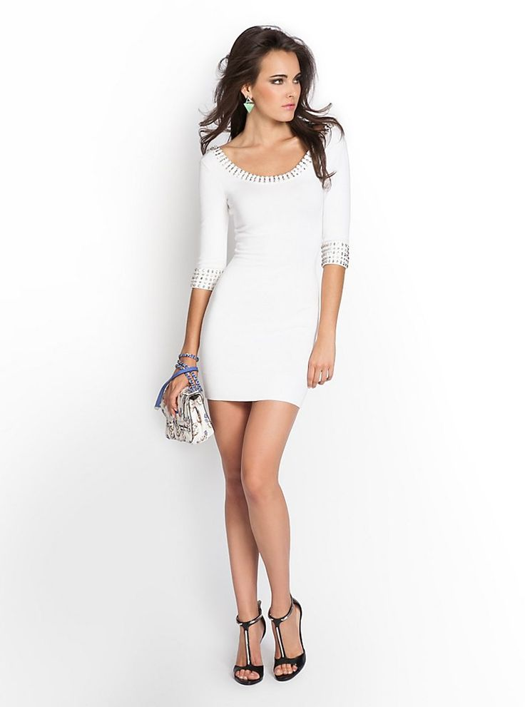 Beaded Sweater-Dress at Guess