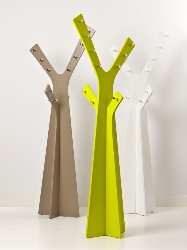 designed by robert bronwasser for cascando this is tree coat stand a coat stand which can hold as many as 20 coats