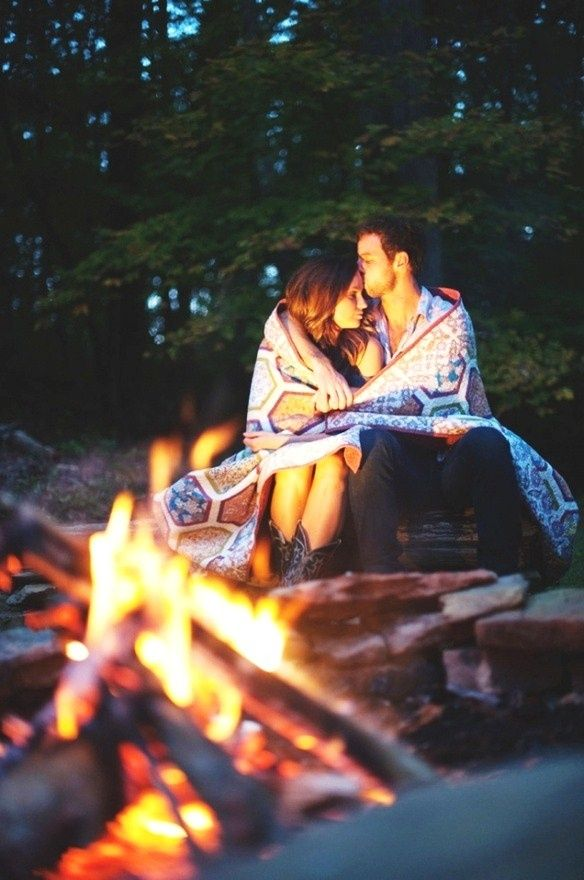 Autumn love love couples outdoors nature fire autumn camping