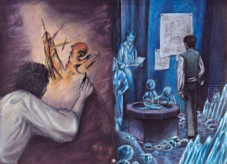 LES MONDES DE MYST 4d38970457d5cdd256bb1c0fe44a6775--surrealism-art-cyan