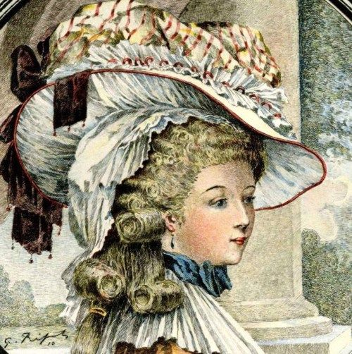"Rose Bertin,   ""Minister of Fashion"" to Marie-Antoinette    ( hand-colored plate by G. Ripart)."