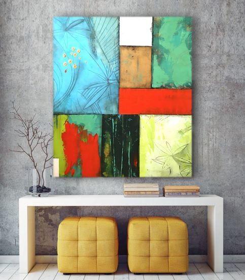 HAPPY SQUARES 1 #acrylkunst #abstraktemalerei #kunst #art #wohnzimmer…