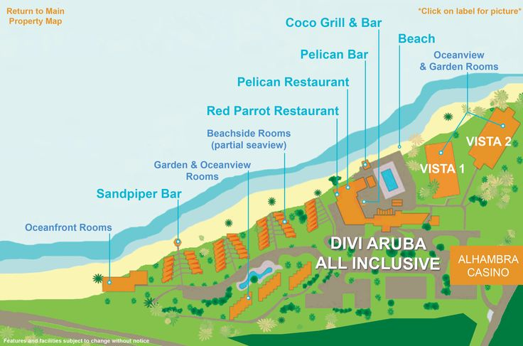 Divi Aruba Map