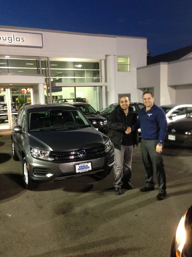 Douglas VW Sales Consultant Vlad Voskoboynikov delivering a 2013 Tiguan to Jose Becerra of Linden, NJ. Enjoy your new Tiguan Jose! Click on the pic to find out more about us!