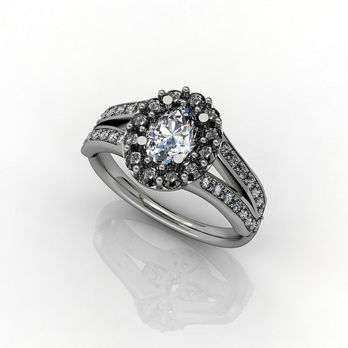 Channel set cluster diamond - Bespoke Engagement Ring