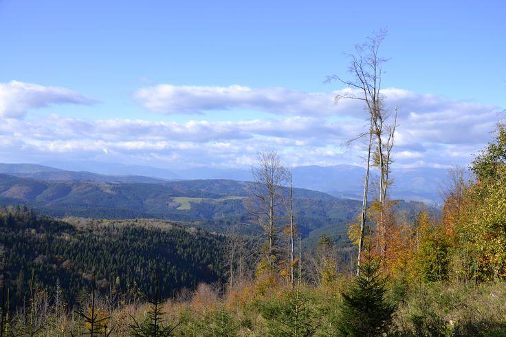 Drábsko 18.10.2014 - panorama, Slovensko * Drábsko 18.10.2014 - panorama, Slovakia