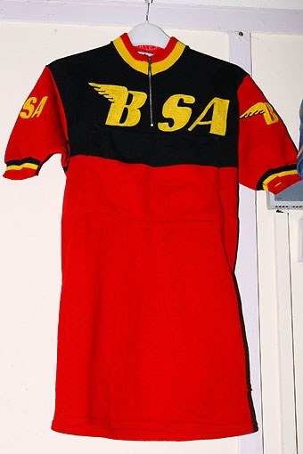 BSA pro cycling team jersey from the 1950's