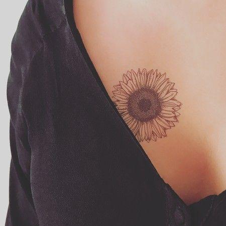 TATUAGEM TEMPORÁRIA GIRASSOL - Tattooux - Tatuagens Temporárias ♥ sunflower
