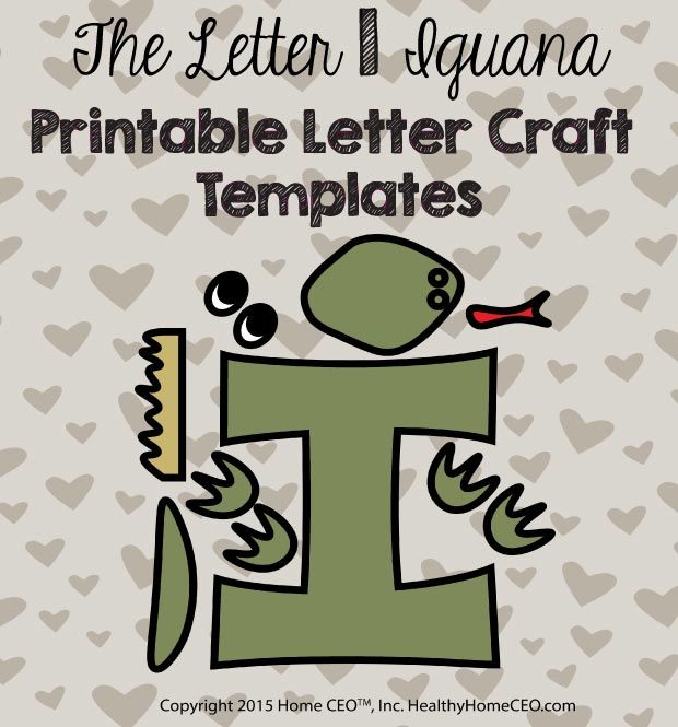 36 best preschool letter craft templates images on pinterest the letter i iguana printable letter craft template by home ceo in color and black spiritdancerdesigns Images