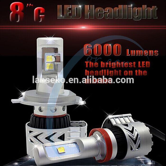 2016 super bright led car headlight bulb h4 white color 6500K 6000LM h4 led headlight for car