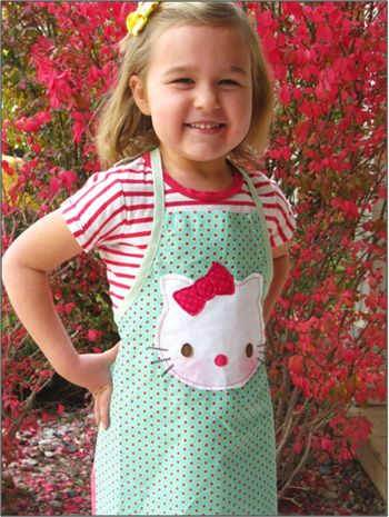 "Apron Patterns For Kids ""My Little Kitty"""