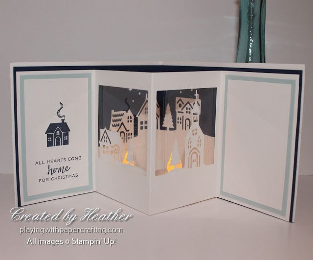 Playing with Papercrafting: Hometown Greetings Lumiere for Free Newsletter Tutorial