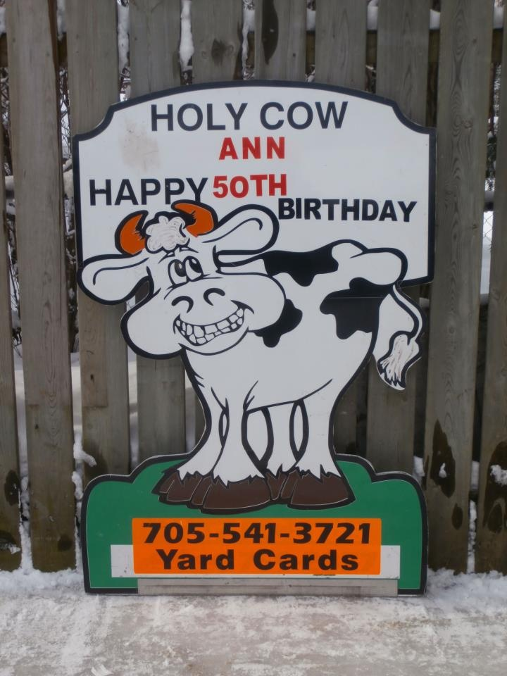 Tease someone about their age by having this on their front lawn the day of their birthday!   This is one of the many cards we have available for your loved ones yard. Personalize it to say whatever you want!