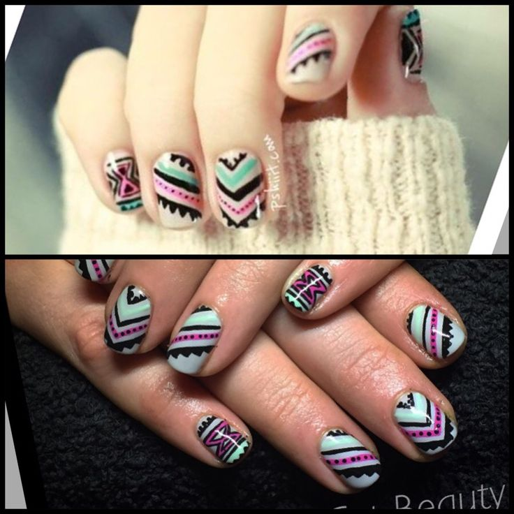 My client brought me a picture to recreate onto her nails. Top pic is the inspiration Bottom pic is my rendition.