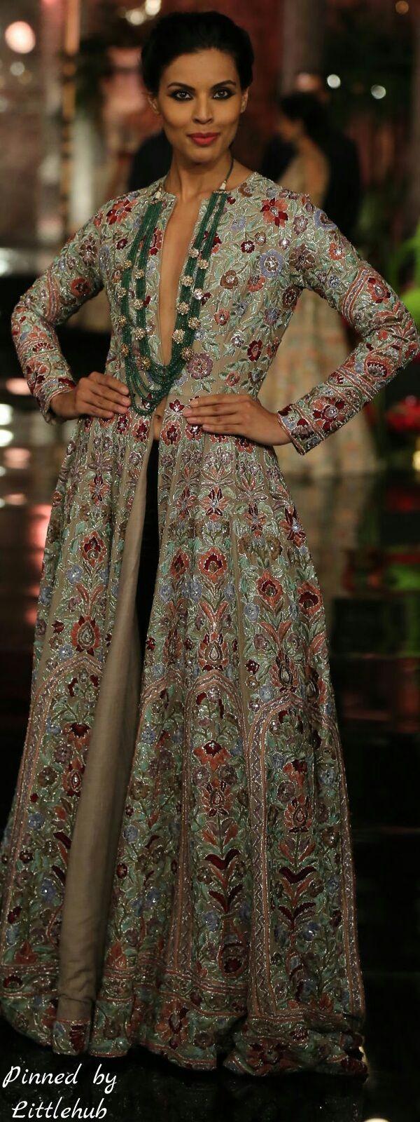 Pinterest: @Revathy Bose    คdamant love on Anarkali's ✿。。ღ    Manish Malhotra Anarkali - The Persian story