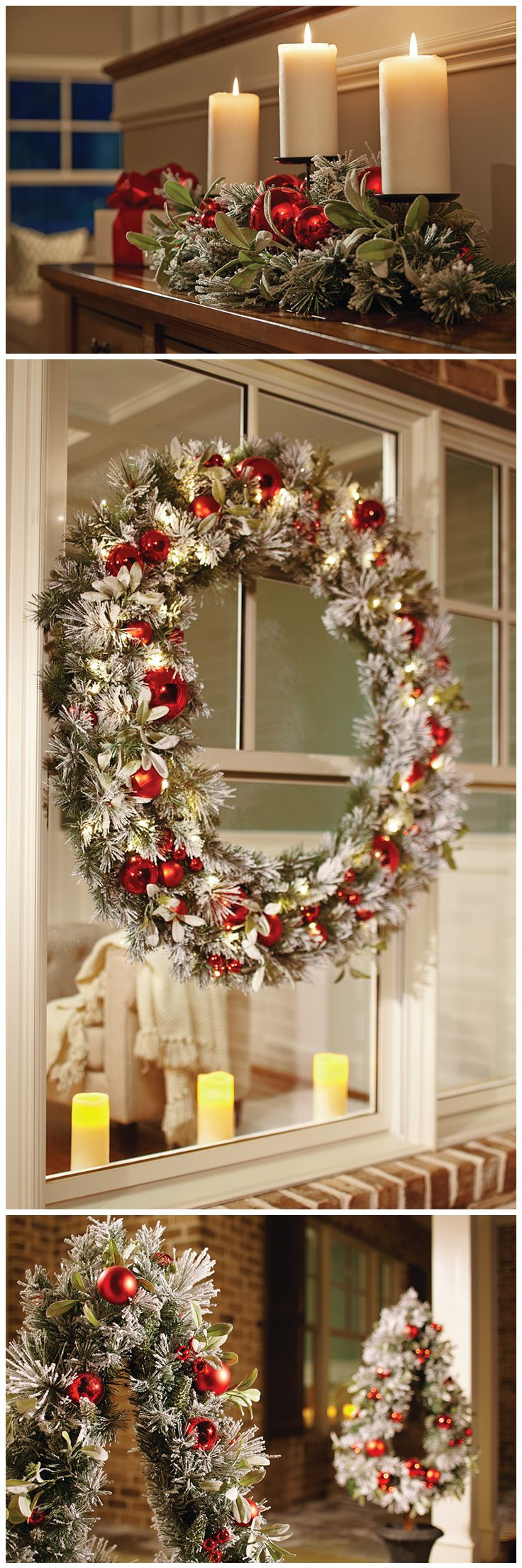 The frosty look of snow is a sure way to create a warm, Christmas-y feeling. That's the idea behind our Snowy Pine Greenery Collection. It has a cozy, familiar look whether outdoors on your entryway, or indoors on your Christmas mantel. The Home Depot has the garlands, wreaths, potted trees and more to create this look, or any Christmas style you're dreaming of. Click through to get started on your holiday decor.