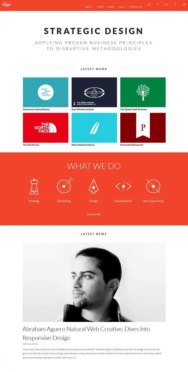 Kluge Interactive - Digital Agency - Webdesign inspiration