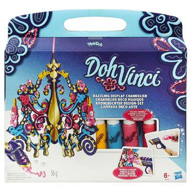 Play-Doh DohVinci kroonluchter  Geef extra glans aan iedere ruimte met deze aanpasbare kroonluchter set! Om hem te versieren kies je simpelweg een DohVinci Deco Pop Tube doe hem in de Styler richt knijp en versieren maar in stevige 3D-lijnen!  EUR 12.98  Meer informatie