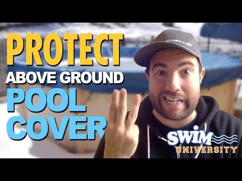 How to Protect Your Above Ground Pool Cover from Winter Weather - YouTube