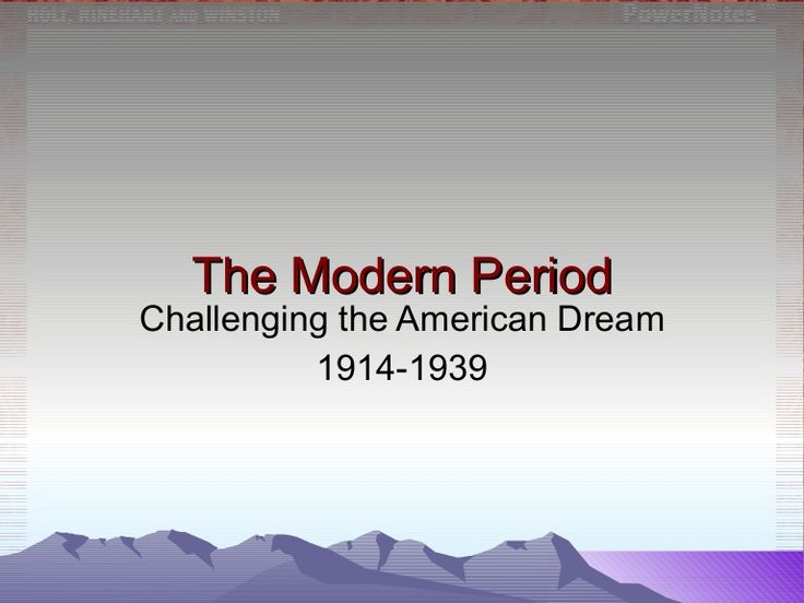 American Literature: Introduction to the Modern Period