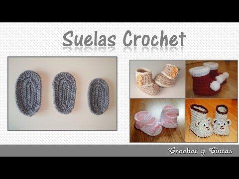 Consejos y patrones para tejer zapatos a crochet - Plantillas para todas las tallas de bebés - YouTube