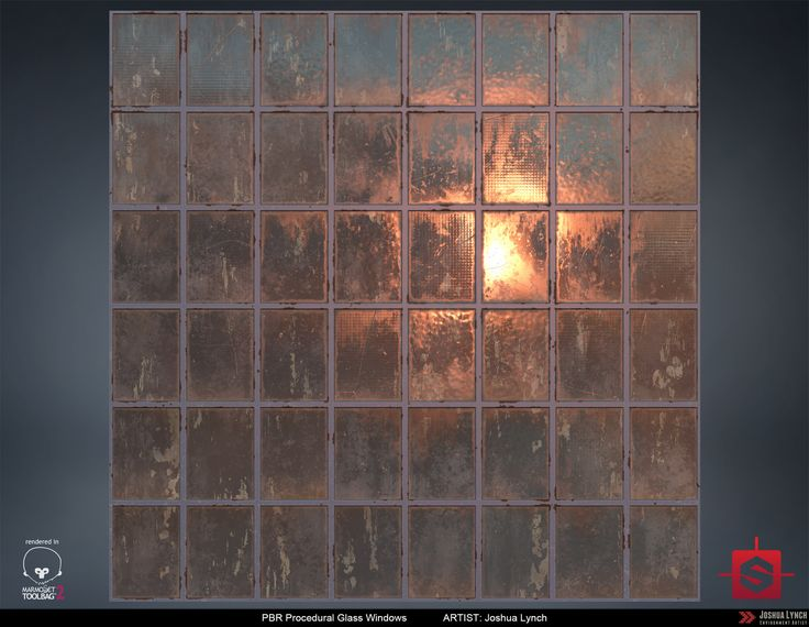 ArtStation - PBR Procedural Industrial Window Material Study, Joshua Lynch