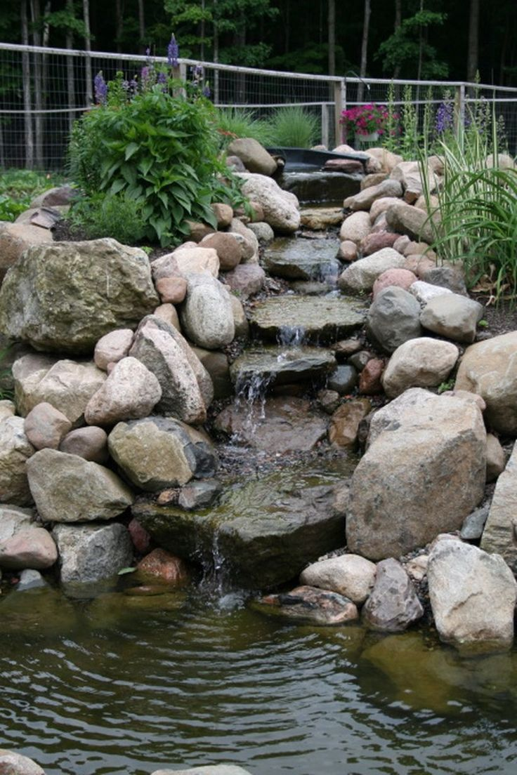 Best 25 pond landscaping ideas on pinterest ponds pond for Garden pond fountain design