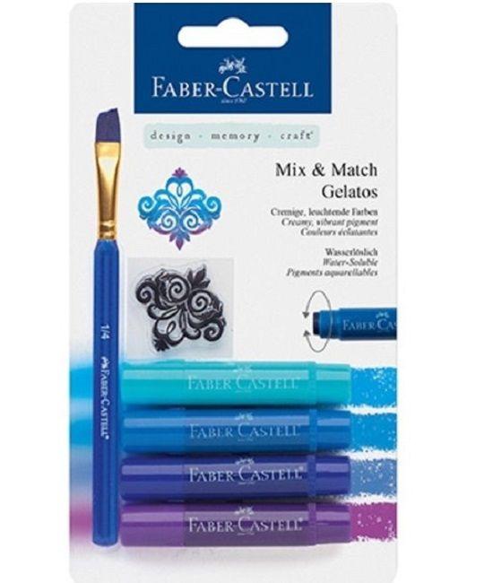 Faber Castell Gelatos - Pigment Sticks - Blauw 4 st. €10,29