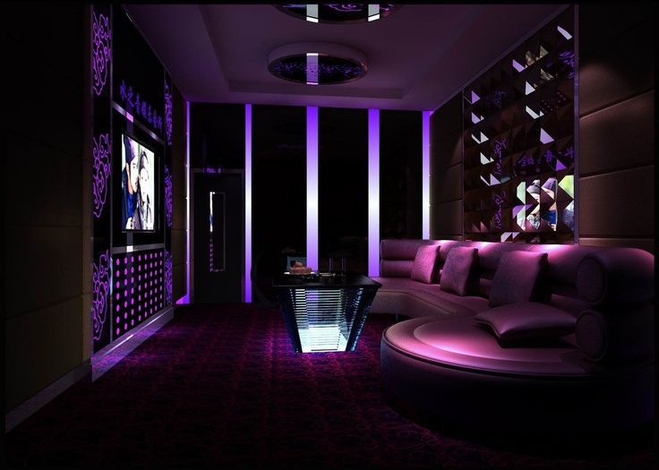 Purple Ktv Room Interior Design 3d K Tv Pinterest