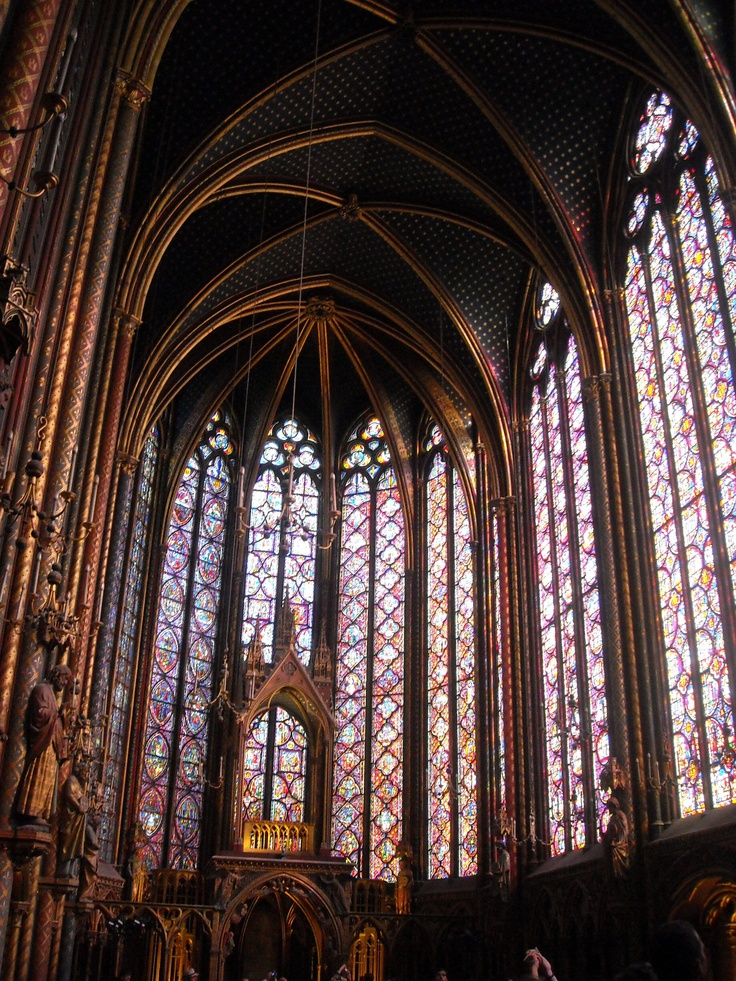 The amazing stained windows at St. Chapelle