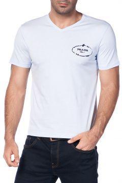 Prada Erkek Açık Mavi T-shirt https://modasto.com/prada/erkek-ust-giyim-t-shirt/br2412ct88